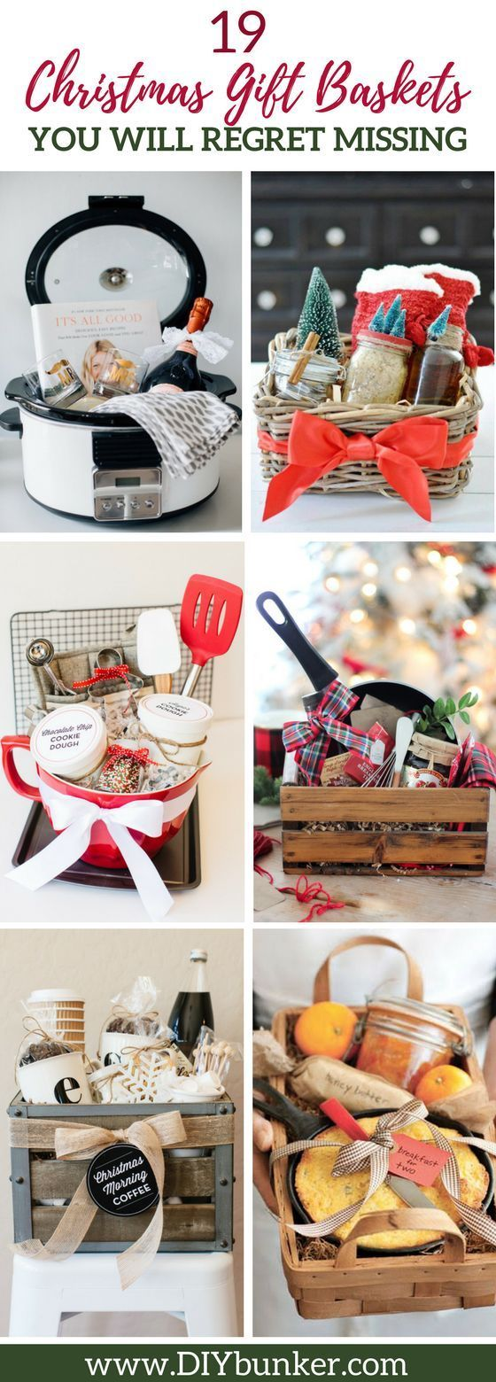 These 19 Christmas Gift Baskets Are Too CUTE! I love that there is a bartender gift I can make for my boyfriend!