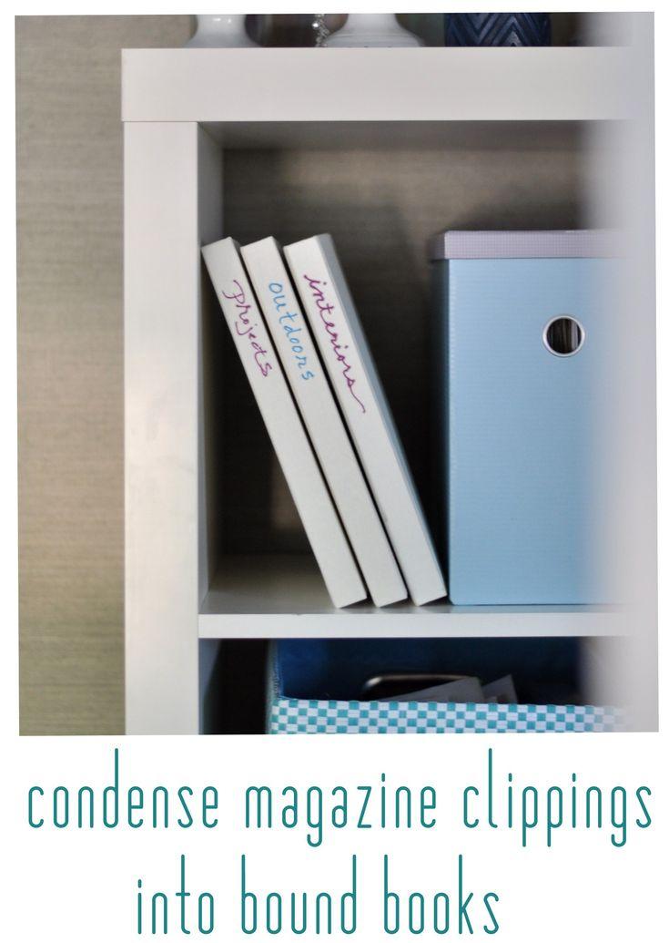 condense magazine clippings into bound books