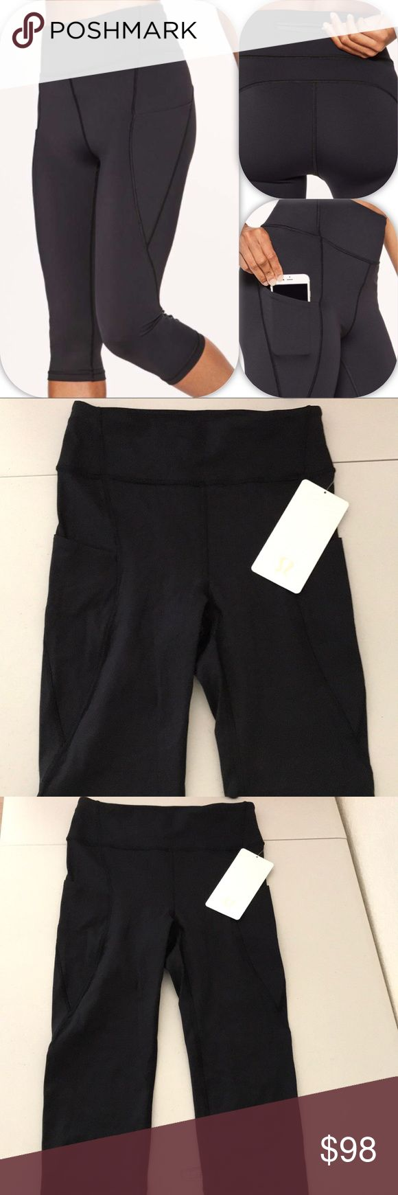 NWT BLK LULULEMON BREAK FREE CROP - - Size 6 Brand: Lululemon Athletica break Free Crop         Condition: New with tag || Size 6 || Black  📌NO  TRADES  🛑NO LOWBALL OFFERS  ⛔️NO RUDE COMMENTS  🚷NO MODELING  ☀️Please don't discuss prices in the comment box. Make a reasonable offer and I'll either counter, accept or decline.   I will try to respond to all inquiries in a timely manner. Please check out the rest of my closet, I have various brands. Some new with tag, others in excellent Cd…
