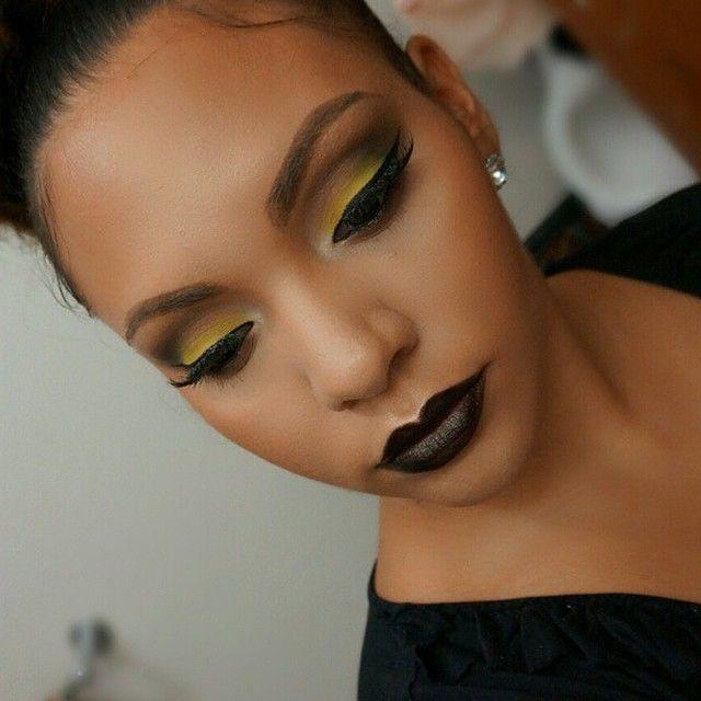 yellow lipstick on dark skin - photo #9