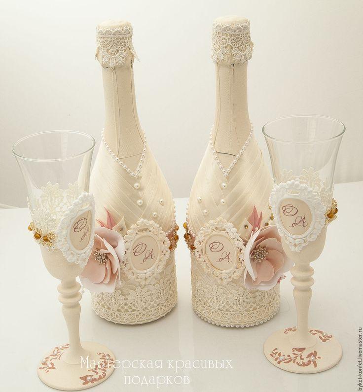 Купить Свадебное набор ''Волшебное свечение'' - свадьба, свадебные аксессуары, бутылки, бутылки свадебные