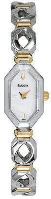 Bulova Women's Two Tone Bracelet MOP Watch 98V12