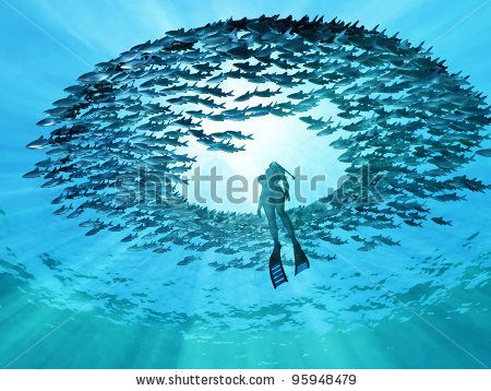 eye of the ocean - stock photo