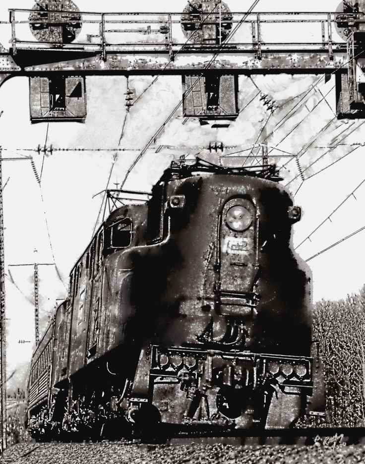 Pennsylvania Railroad GG1 at Aberdeen Maryland. @@@@@@@@@@@@@@@@@@@@ Can I Join your Train Crazy Board ?