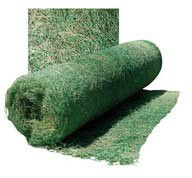 "The first name in erosion control. Biodegradable excelsior blanket with netting, for temporary erosion control and speedy revegetation of slopes and waterways. Clings to the soil with ""barbed"" fibers"