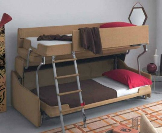 Couch Bunk Bed Transformer crazy transforming sofa goes from couch to adult-size bunk beds in