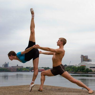 This is what a real man does for his ladyy: photographs in a dance pose :) I respect you my good man