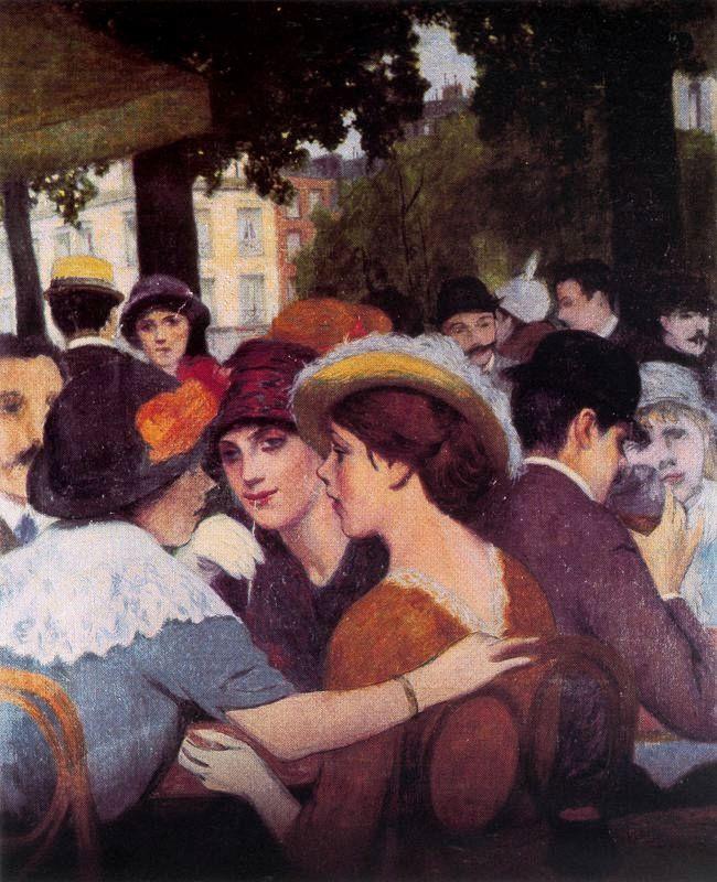 Place Pigalle a Parigi ~ Federico Zandomeneghi ~ (Italian: 1841-1917)