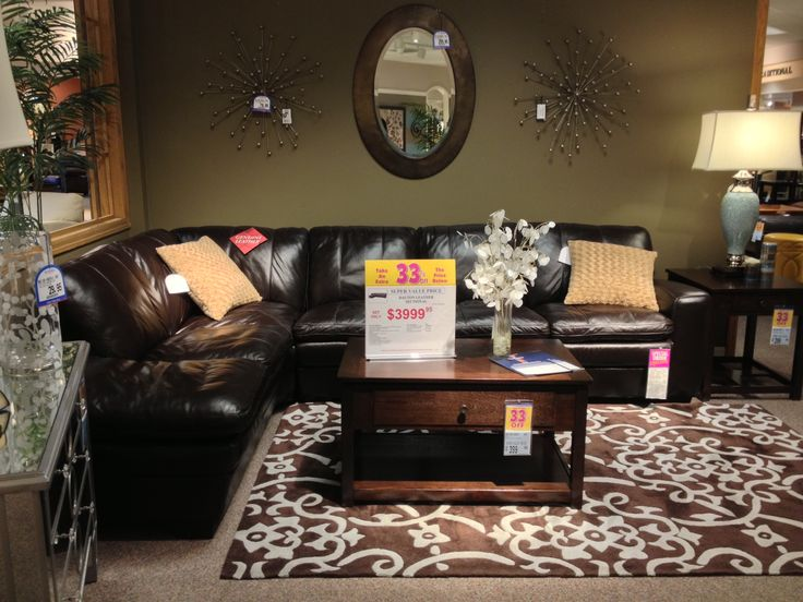 Casual Glam Htl Dalton Chocolate Brown Leather Sectional Espresso Lift Top Coffee Table Oval