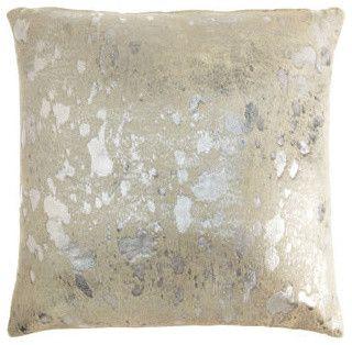 Owen Barry Argento Spot Pillow - contemporary - pillows - Barneys New York