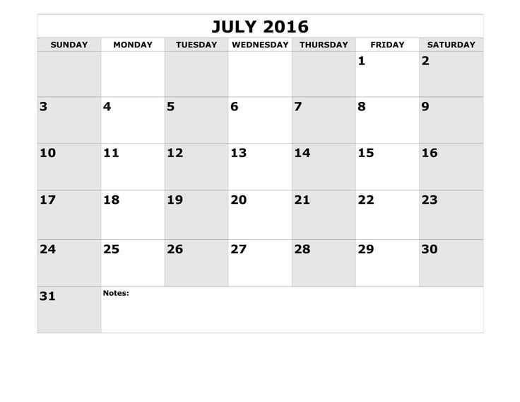 The 136 best July 2016 Calendar with Holidays images on Pinterest ...
