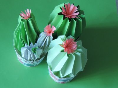 This is another plant paper craft that the kids can add to their collection. These paper cactus are fun to make and do not require many materials. It does demand some patience, but once put together make some really pretty decoration.
