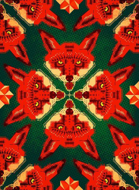 Fox Cross geometric pattern 2012 by Chobopop