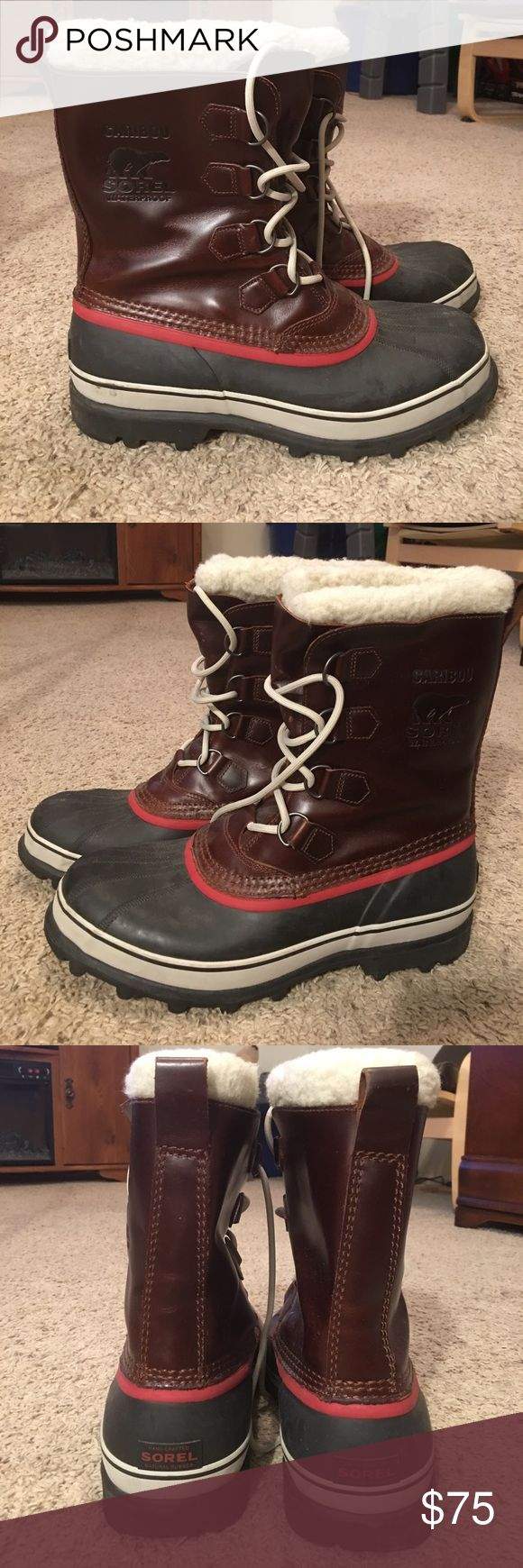 Men's Sorel Winter Boots Worn twice. Excellent condition! No longer live where they are needed. Sorel Shoes Boots