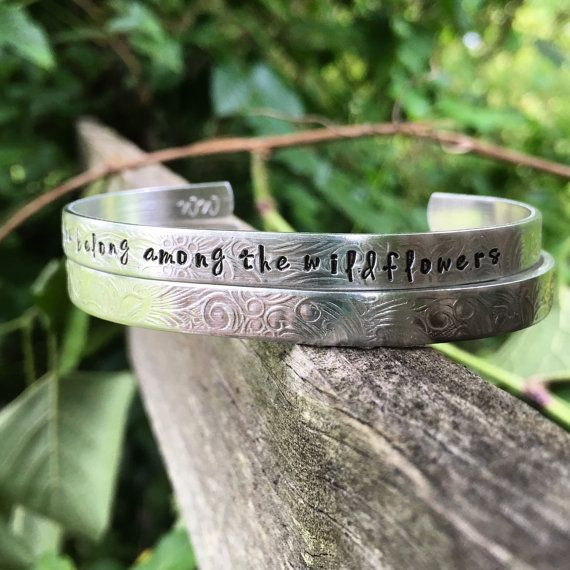 You belong among the wildflowers Tom Petty quote bracelet