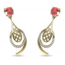 A uniquely designed earring that adds oomph to any outfit your wear. #jewelsforum #diamondjewelleryforyou