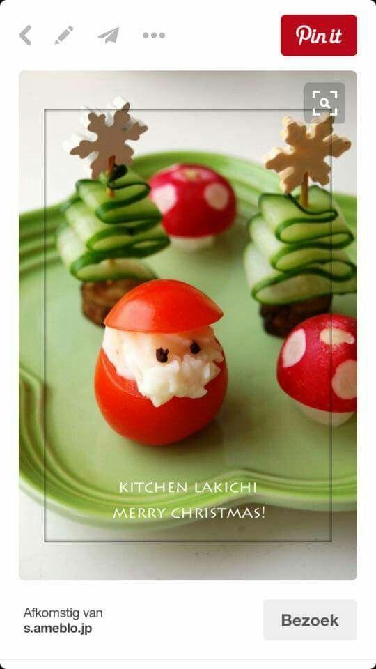 Kersthapjes van groenten