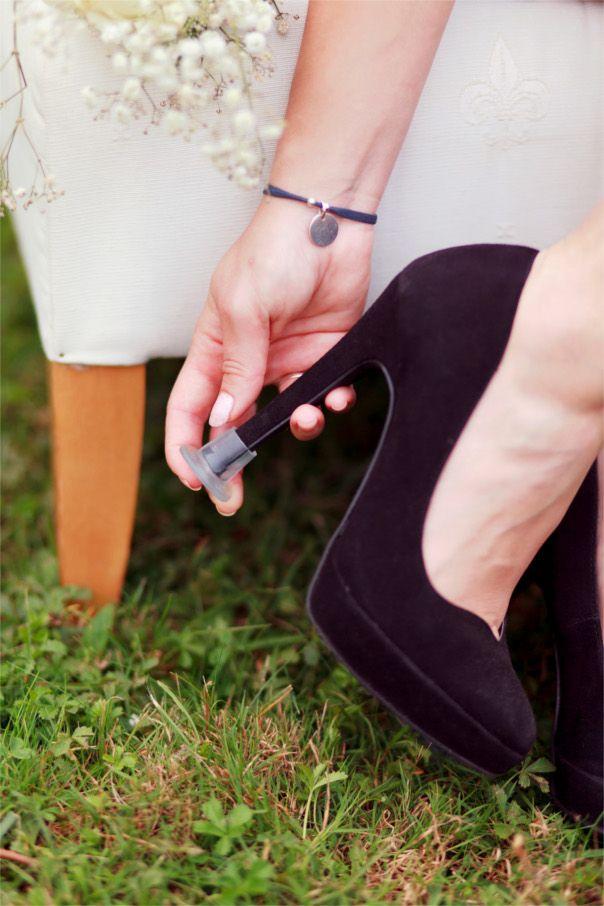 protège-talons escarpins mariage , astuce escarpins mariage- en vente sur le site www.lachrysalidedor.com