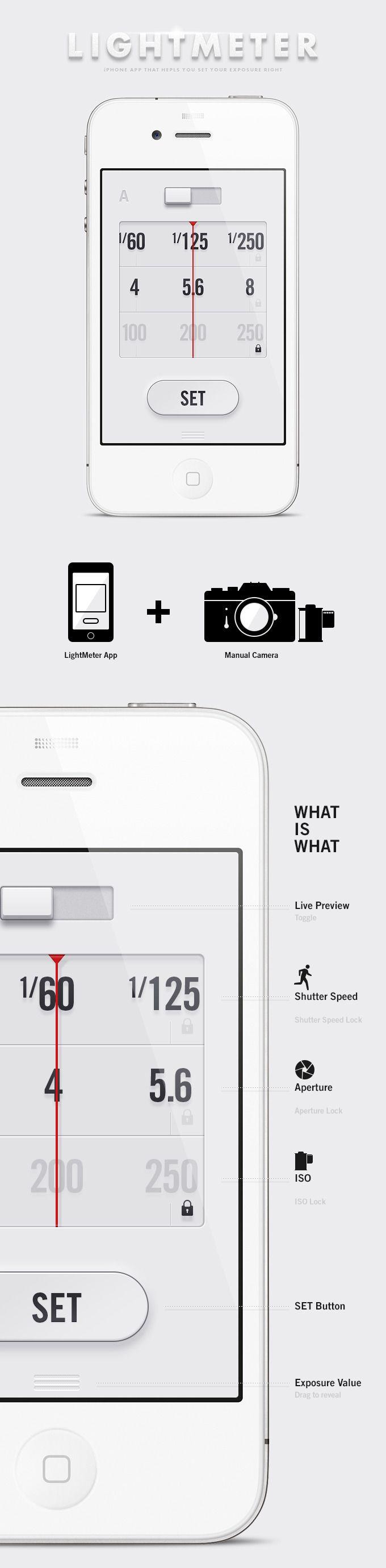 LightMeter App - Anton Repponen #lightmeter #iphone