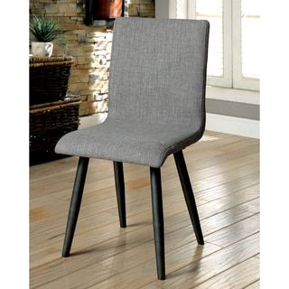 Shop for Furniture of America Bradensbrook Mid Century Modern Style Grey  Upholstered Side Chair  Set of 2   Get free shipping at Overstock com    Your Online. 40 best Dining tables images on Pinterest   Dining tables  Online