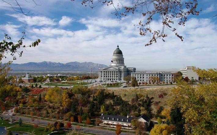 Download wallpapers Utah State Capito, Salt Lake City, Utah, USA, 4k, American city, Capitol