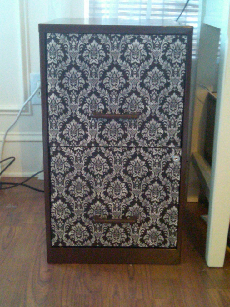 Fabric Covered Filing Cabinet Decoupage Pinterest