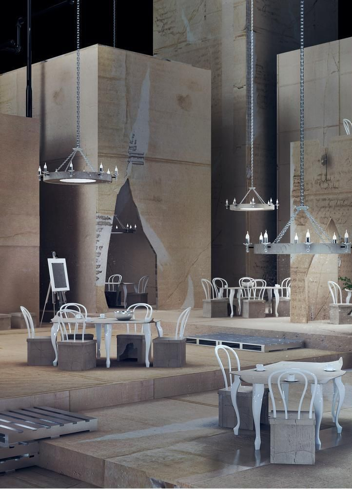 """PAPIERNIA club&restaurant, design from the """"XII"""" collection by Karina Wiciak"""