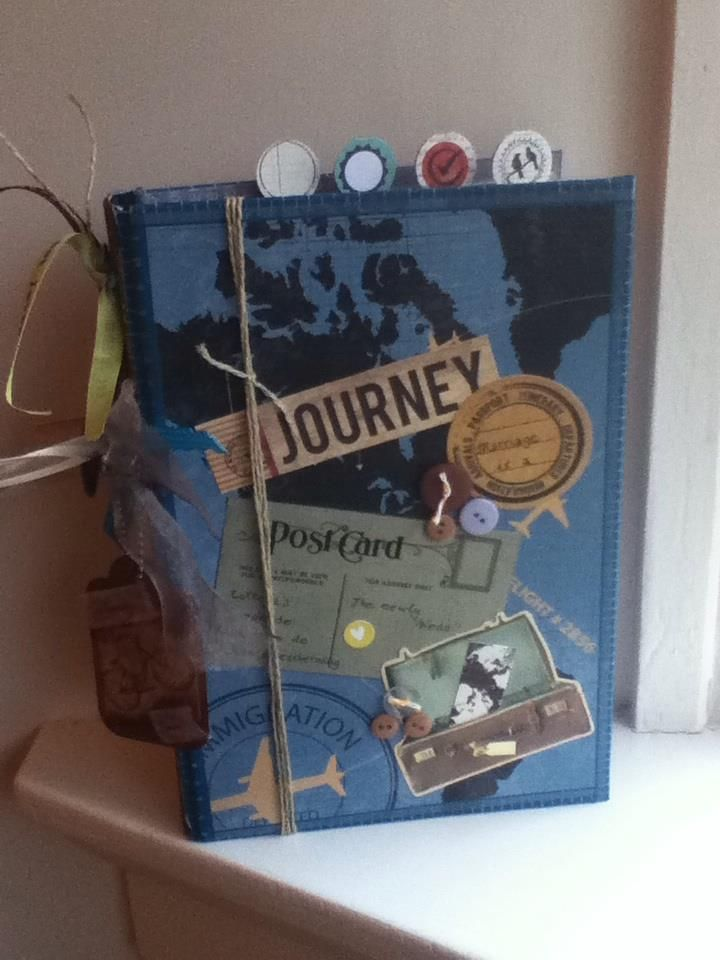 A simple make-over from a photo-album to a marvellous journeybook:) with a lot of travelrecipes in it.