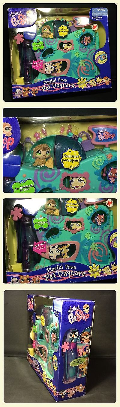 Littlest Pet Shop 150925: Hasbro 2009 Littlest Pet Shop Playful Paws Pet Daycare Playset W 1 Free Pet -> BUY IT NOW ONLY: $109.99 on eBay!