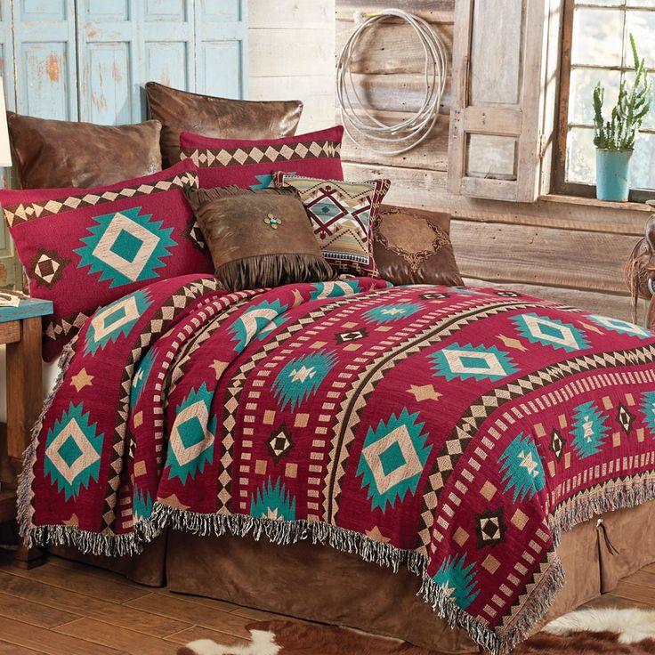 Red Rock Desert Southwestern Tapestry Coverlet - King