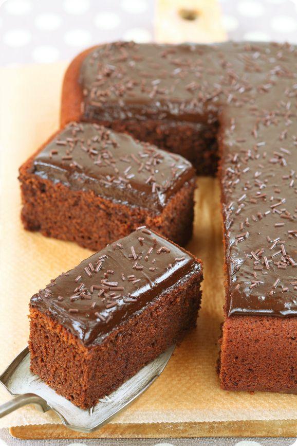 бразильский шоколадный кекс на кипятке