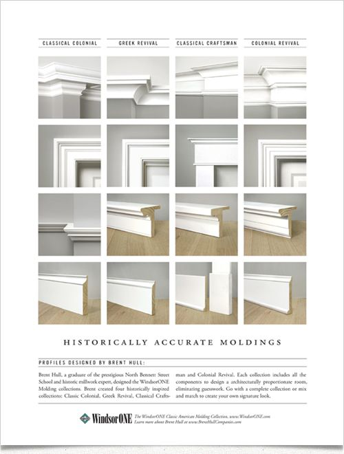 Historically correct crown moldings.....oh how I love crown molding!!! Moldings by WindsorONE