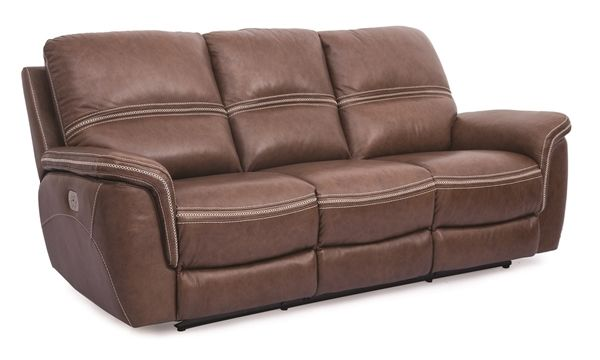 Top Grain Power Reclining Sofa With Power Headrest Lumbar Power Recliners Power Reclining Sofa Sofa