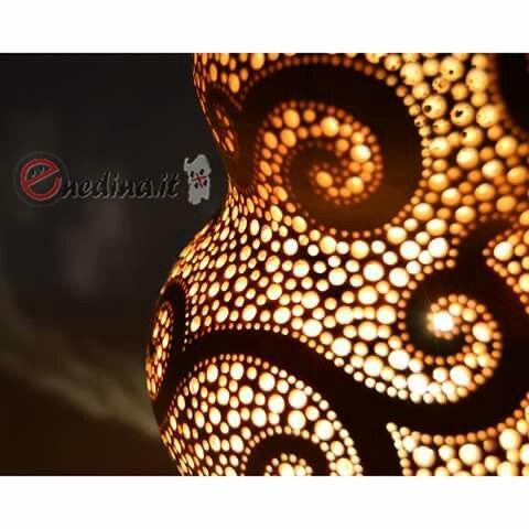 Lampada di zucca. Sardegna. Creazioni belle come il sole. Shop online enedina.it