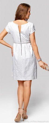 Emma ecru baby-doll-style wedding outfit maternity dress