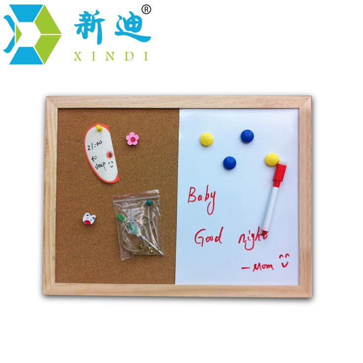 XINDI 30*40cm Free Shipping 2017 Natural Combination Cork Board Magnetic Writing Board Office & School Supplies Home Decorative