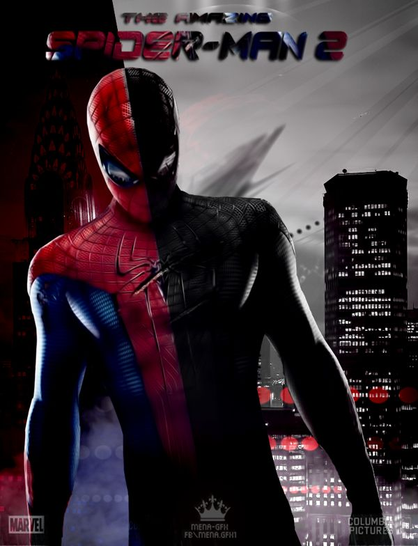 New poster for the amazing spiderman by Mena -Gfx, via Behance