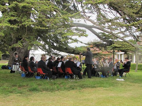 Trumpington Garden Fete with  City of Cambridge Brass Band