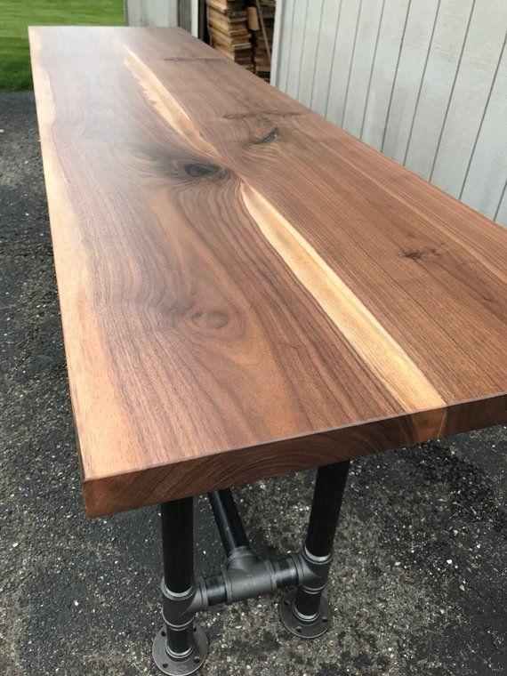 Black Walnut Slab Countertop Butcher Block Tabletop Only Reclaimed
