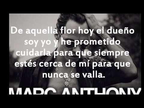 Marc anthony Flor palida letra - YouTube
