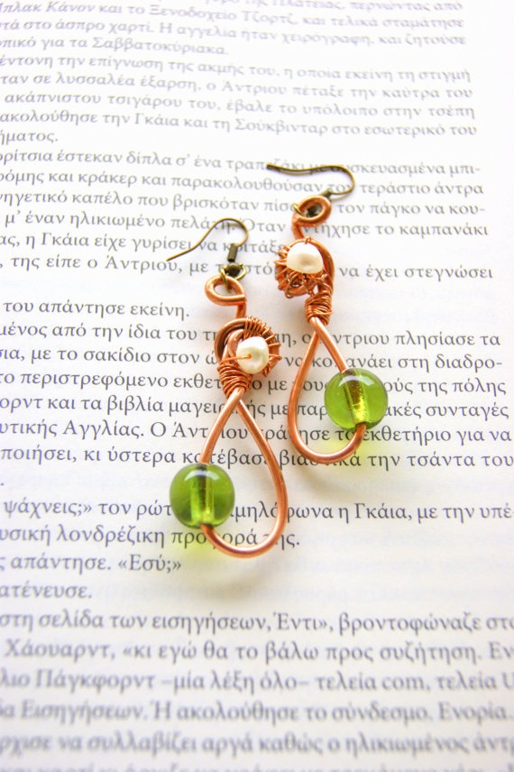 Mycenaean era wire earrings by RenatasArt on Etsy, €12.00