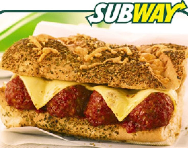 Subway Meatball Sub perfect ! @whitewatersc