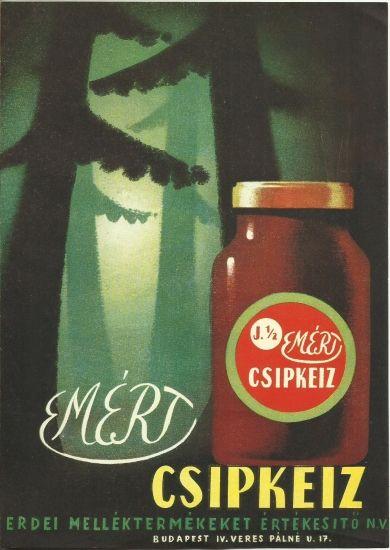 Original vintage advertising poster hungary 1950s jam marmalade