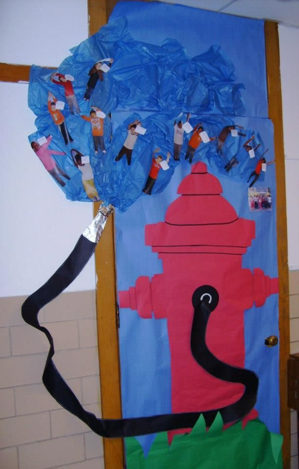 Fire Safety Classroom Door Decoration