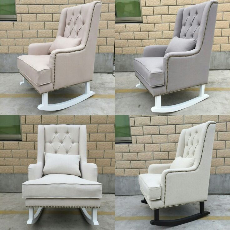 Alba Linen Fabric Rocking Chair  $750