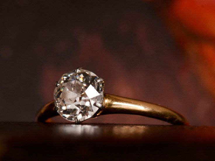 1900s 0.85ct Old European Cut Diamond Solitaire Engagement Ring