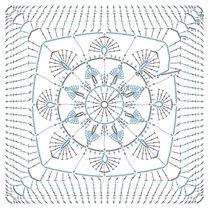 Contemporáneo Patrones De Crochet Cuadrado De La Abuelita Libre ...