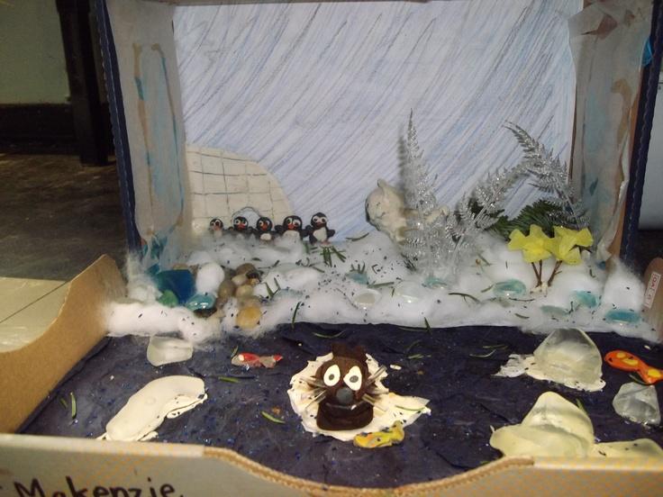 Arctic wolf diorama - photo#7