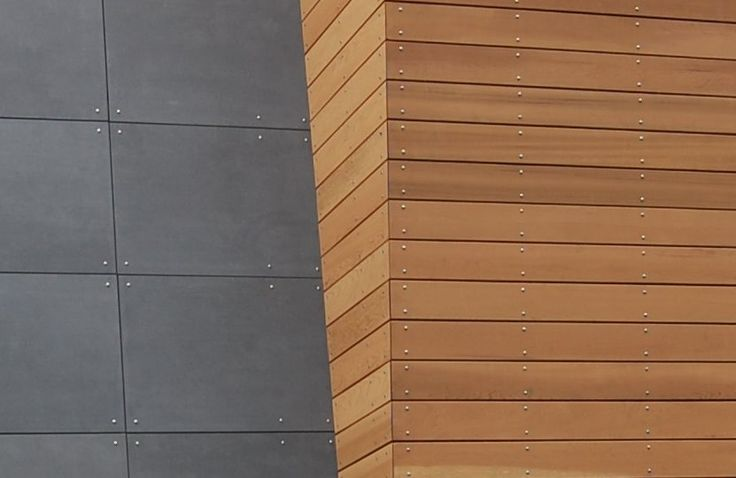 Modern cement and cement board siding on pinterest for Metal shiplap siding