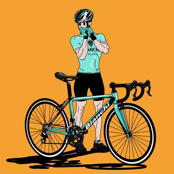 Bicycle girl & boy on Behance